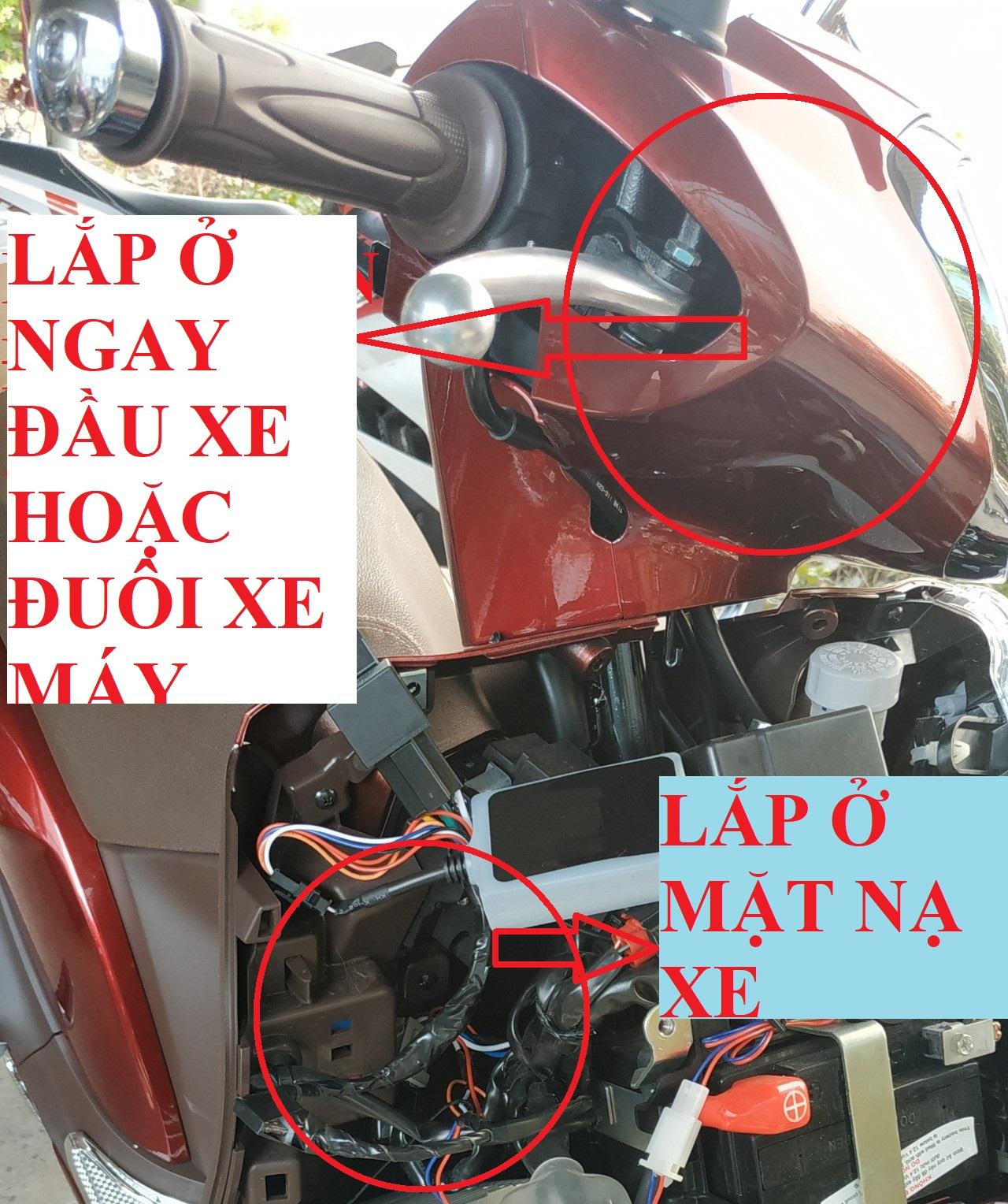 Ví trị lắp thiết bị định vị xe máy